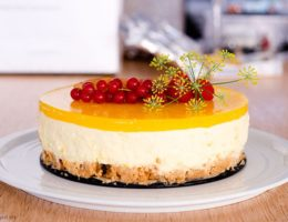 Low Carb Mango Cheesecake