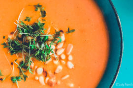 Carrot & Toasted Pine Nut Soup